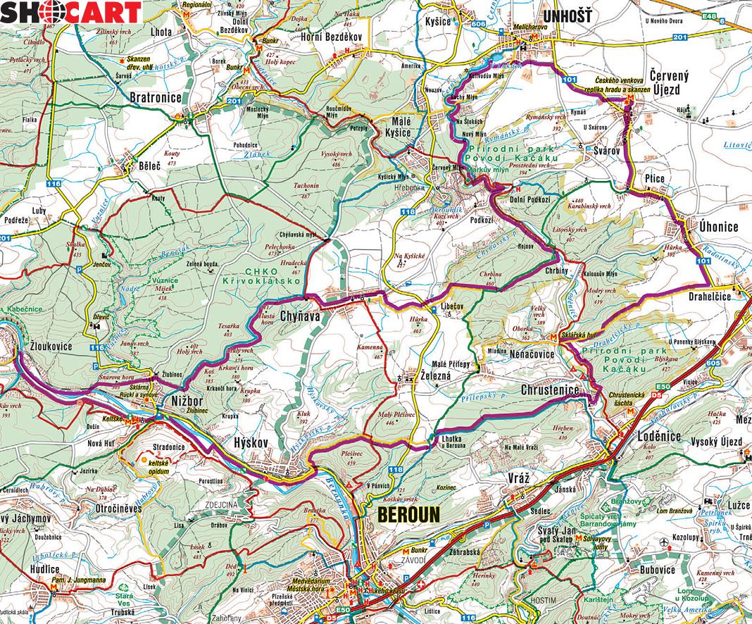 Mapa Turisticka Mapa Berounsko