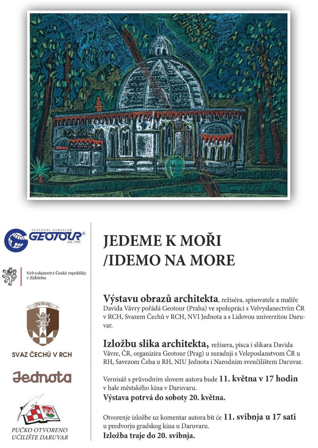 Plakát výstava David Vávra Daruvar