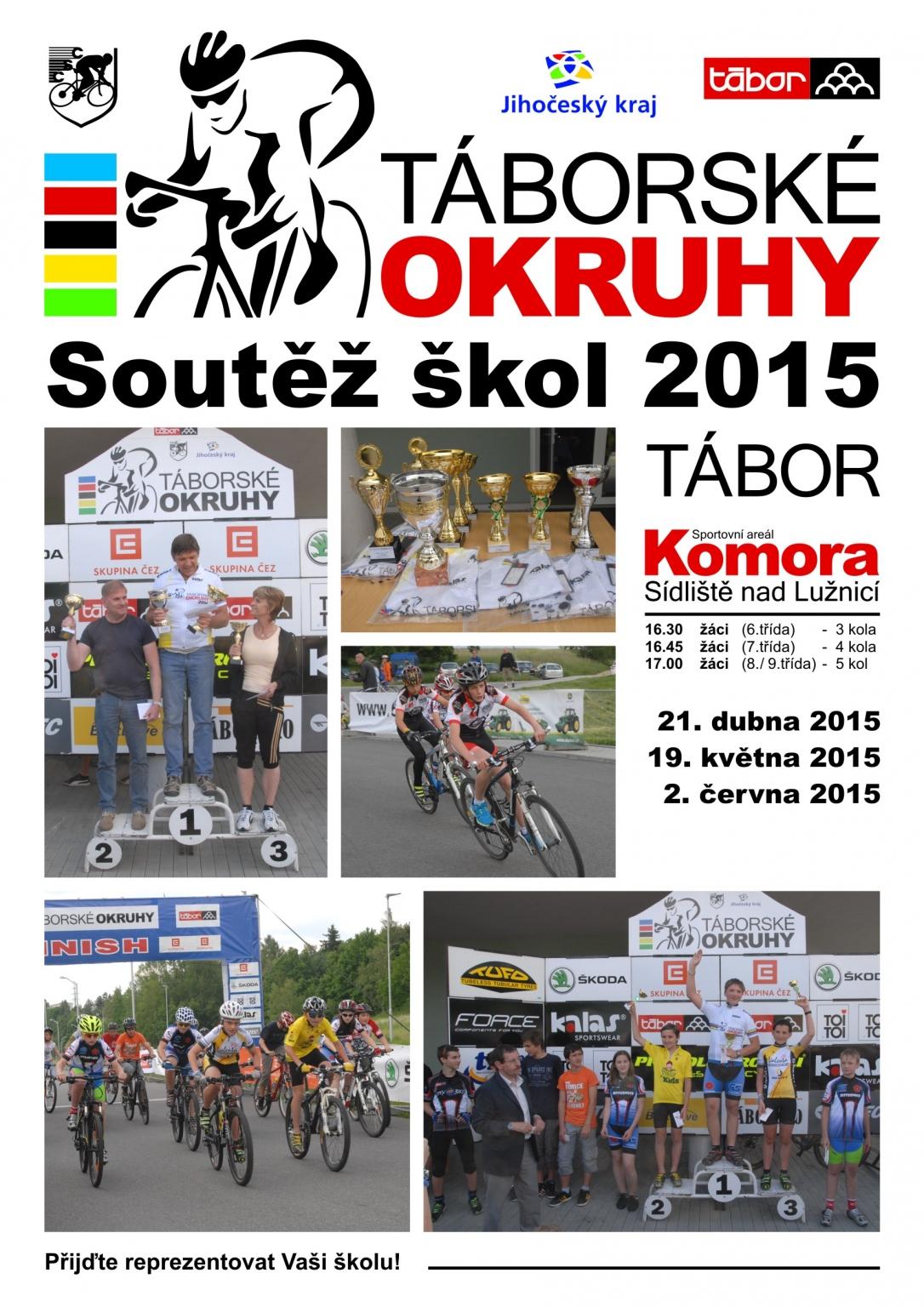 Plakat Taborske okruhy 2015 - skoly